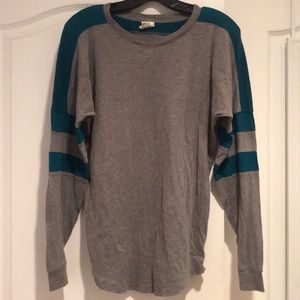 PINK Victoria's Secret Tops - Pink grey/turquoise long sleeve shirt